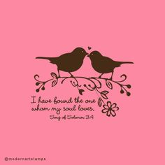 Love Birds Stamp - Custom Rubber Stamps & Wedding Stamps by Modern Art Stamps
