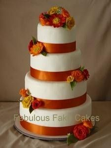 Fake Wedding Cakes! Seriously? Oh Yeah! read more at www.wedmepretty.com