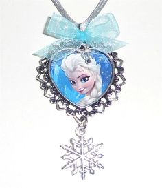 NEW Disney Frozen Girls Elsa Snowflake Charm Necklace ~ Fancy Dress Custom size #Charm
