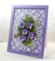 Framed Quatrefoil Flowers