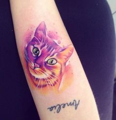 Amazing cute cat tattoo - 100+ Examples of Cute Cat Tattoo