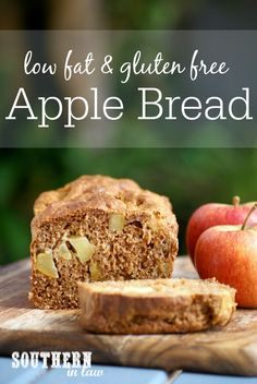 Recipe: Healthy Apple Bread This Healthy Apple Bread Recipe is SO delicious and so easy to make. Low fat, gluten free, refined sugar free, clean eating friendly and the perfect breakfast, snack and meal prep inclusion as it is also freezer friendly! Sugar Free Recipes, Apple Recipes, Gluten Free Recipes, Diet Recipes, Weight Watcher Desserts, Gluten Free Treats, Gluten Free Baking, Healthy Sweets, Healthy Baking