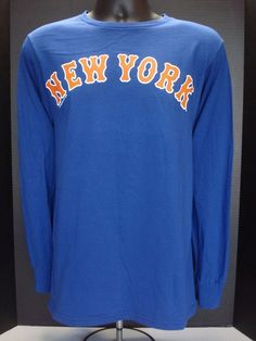 b03c9e907f3 New York Mets Majestic Long Sleeve Adult Tee - NWT - FREE SHIPPING!   Majestic