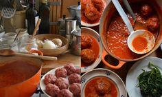 Polpette al sugo (meatballs in tomato sauce)