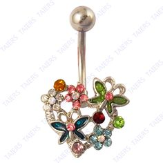Aliexpress.com : Buy Heart flower butterfly belly button rings fashion body jewelry Wholesale 14G Surgical Steel Free Shipping (10 pieces/lot) from Reliable belly ring suppliers on Yiwu Taiers Jewelry Manufactory $9.90