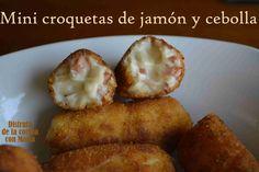 Croquetas de jamón y cebolla