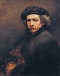 Self-portrait - Rembrandt  Had a moment with Rembrandt at the Norton Simon in Pasadena. I didn't just see Rembrandt; he saw me. Overwhelmed by his unassuming genius. His work is in a class by itself.