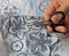 Bullard Designs new embroidery set - Georgia Canting. Stitched on double layer of fabric for a reverse appliqué affect