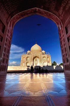 Inde Taj Mahal  Ville Agra : Mausolé de la femme de l'empereur Shan Jahan , une des 7 merveilles du monde.
