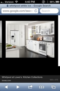 White appliances are the new stainless steel. I love this look! Whirlpool White Ice collection