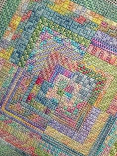 Spring Logs from Needle Delights--technically not cross stitch, but I don't have a needlepoint board so...
