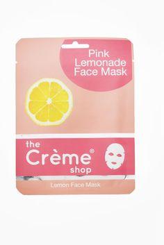 Pink lemonade face mask