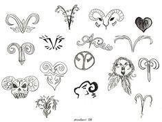 Aries Tattoo Designs found on Polyvore | Tattoo - piercing ...