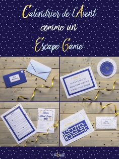 Advent calendar as an Escape Game – for children – Christmas – to print – printable Games For Kids, Diy For Kids, Crafts For Kids, Christmas Holidays, Christmas Cards, Xmas, Diy Advent Calendar, New Years Eve Party, Place Card Holders