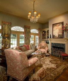 Tuscan design – Mediterranean Home Decor Tuscan Design, Tuscan Style, Formal Living Rooms, Home Living Room, Luxury Interior Design, Design Interiors, Mediterranean Home Decor, Pretty Room, Victorian Decor