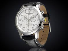 Fromanteel Amsterdam chrono horloge witte wijzerplaat A-0203
