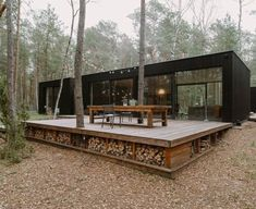 Tiny House Cabin, Tiny House Living, Tiny House Design, Contener House, Sip House, Eco Cabin, Forest House, Forest Cabin, House In The Woods