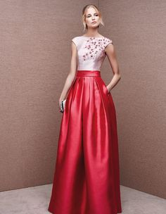 6602 - cocktail dress encrusted with gemstones, with bateau neckline | St. Patrick