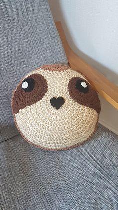 Crochet sloth pillow