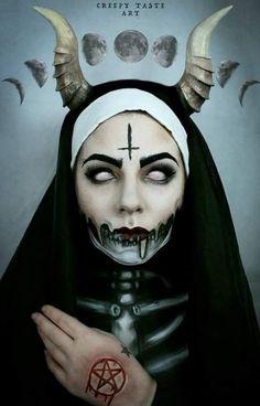 Horror Art by Creepy Taste Art - Dark - Horror - Cool Halloween Makeup, Creepy Halloween, Arte Horror, Horror Art, Art Sinistre, Minimalist Makeup, Beautiful Dark Art, Satanic Art, Evil Art
