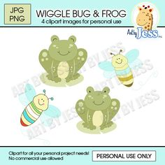 Wigglebug and Green Frog Baby Shower / by AllPetsCherished on Etsy, $5.00