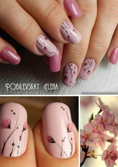 Want to know how to do gel nails at home? Learn the fundamentals with our DIY tutorial that will guide you step by step to professional salon quality nails. Fancy Nails, Trendy Nails, Diy Nails, Cute Nails, Pink Manicure, Pink Nail, Spring Nails, Summer Nails, Floral Nail Art