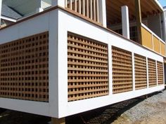 This is what I want to do with the lattice work on our deck.