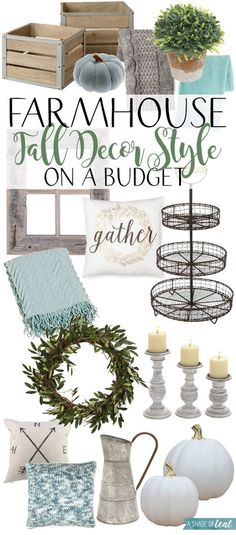 Farmhouse Fall Decor Style on a Budget! | A Shade Of Teal