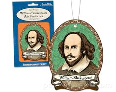 """William  """"Shakespearmint"""" air freshener for your well read family and friends!"""
