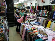 The fabric store where we bought the fabric for my ao dai by Boots in the Oven, via Flickr