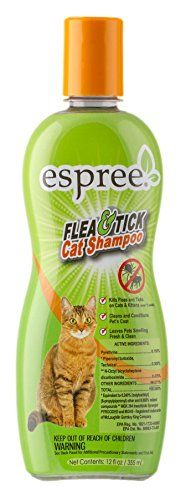 Espree Animal Products Flea  Tick Cat Shampoo 12 oz 355 ml -- Check out the image by visiting the link.(This is an Amazon affiliate link and I receive a commission for the sales)