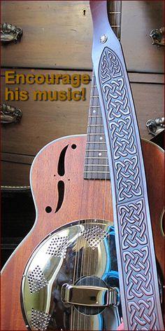 Oberon Design Leather Guitar Straps