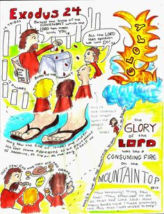 Doodle Through The Bible: Exodus 24 My Faith Art Journal entry for Good Morning Girls (GMG) Bible Study Bible Art, Bible Scriptures, Hebrew Bible, Exodus Bible, Girls Bible, Understanding The Bible, Bible Study For Kids, Bible Study Journal, Bible Knowledge