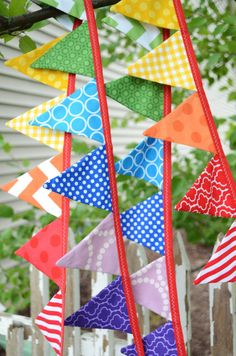 ad1b8b1f016 READY to SHIP Mini Flags Reusable Fabric by LittleBirdsBoutique