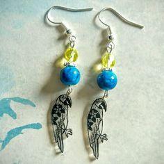 407- boucles d oreilles perroquets inspiration tatouage