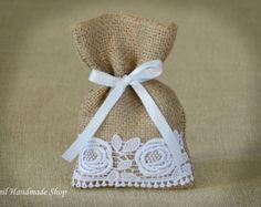 Bolsa de regalo personalizado bolso del Favor de la boda por Teomil