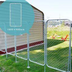 お庭やガレージ、お店やお部屋のディスプレイ用としても使えます。パーテーション 金網 柵「アメリカンフェンス XL 1800×900mm」【送料別】 ガレージフェンス アメリカンメッシュ ガーデンフェンス