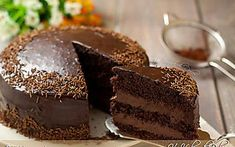 Torta al cioccolato con crema al mascarpone e Nu tella