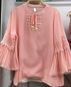 No photo description available. Pakistani Fashion Casual, Pakistani Dresses Casual, Pakistani Dress Design, Kurti Neck Designs, Dress Neck Designs, Blouse Designs, Mode Outfits, Fashion Outfits, Kids Dress Wear