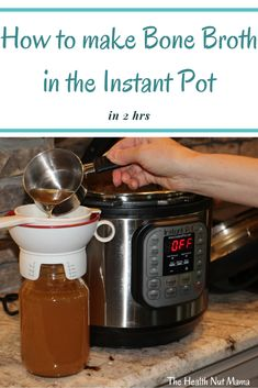 How to Make Bone Broth in the Instant Pot in 2 hours. It can boost the immune system and heal disorders like leaky gut, allergies, food sensitivities, asthma, and arthritis. It is said, if you heal the gut you heal disease.  #aip #leakygut #autoimmunedisease #hashimotos #rhuematoidarthritis #paleo #instantpot #bonebroth #collagan #healthegut #foodsensitivites #allergies #asthma #arthritis #thehealthnutmama Paleo Kids, Paleo Recipes, Free Recipes, Gluten Free Living, Leaky Gut, Instant Pot Pressure Cooker, Bone Broth, Food Allergies, Immune System