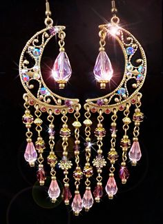 Arabian Nights Fantasy Pink and Purple Crystal Moroccan by kerala. $34.00, via Etsy.