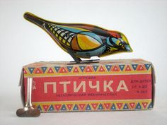 Vintage wind up Russian bird from The Lovely & The Strange