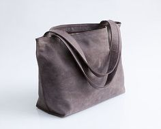 """Customer Feedback \\ Michelle \\\ Shiri Bag in Purple Gray Leather """"I LOVE LOVE LOVE my bag!! It's a great size and lightweight so it doesn't weigh a lot once you add all your stuff. It came very quickly. I love it! Shop it at Mayko http://www.maykobags.com for more reviews at the etsy shop: https://www.etsy.com/your/shops/maykobags/reviews?page=1 #reviews #bags #handbags #leather #shoponline #onlineshopping #leatherbags #fashion"""