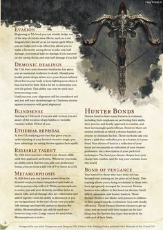 Homebrewing class DnD Homebrew Demon Hunter class by sonixinos Dungeons And Dragons Classes, Dungeons And Dragons Homebrew, Fantasy Weapons, Fantasy Rpg, Dnd Characters, Fantasy Characters, Dnd Races, Dnd Classes, Dnd 5e Homebrew