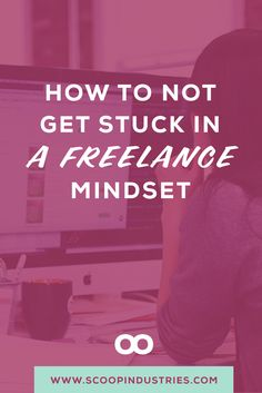 Read this post to get some ideas on how to stop feeling trapped in a  freelance mindset and start feeling like a boss. Pin for later.  via @scoopindustries