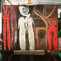 This spectacular never been seen before Cecil Skotnes carved and painted panel will be making an appearance on our August Art & Antiques Auction Art Thomas, Jazz Art, Silhouette Painting, South African Artists, Art Brut, Found Object Art, Expressive Art, Arte Popular, Outsider Art