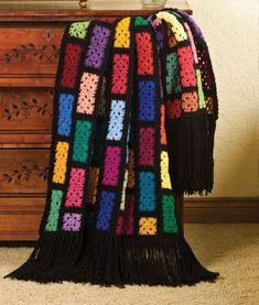 """Scraps Spectacular Blanket, free pattern by """"Talking Crochet"""""""