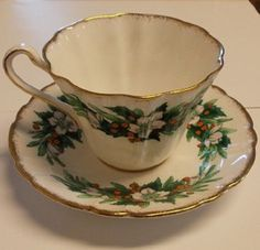 Royal Stafford Special Occasion Teacup and Saucer by KCsBazarr, $11.99