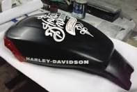 Harley-Davidson aerografada no Studio HK