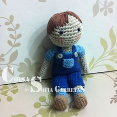 crochet doll, boy